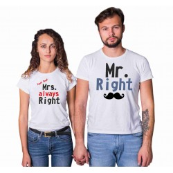KOMPLET MR. RIGHT, MRS. ALWAYS RIGHT